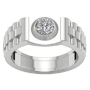 Top View White Gold Ring-MR-55