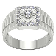 Load image into Gallery viewer, Top View Solitaire White Gold Ring-MR-5