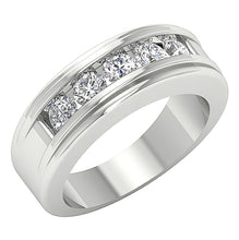 Load image into Gallery viewer, Wedding 14k White Gold Ring-DMR5