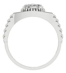 Prong Setting White Gold Ring-MR-11