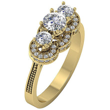 Load image into Gallery viewer, Milgrain Yellow Gold Vintage Anniversary Ring-DTR156-4