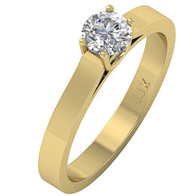 Load image into Gallery viewer, Vintage Solitaire 14k Solid Gold Ring-SR-664-3