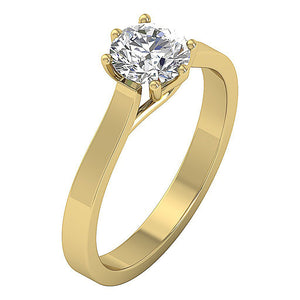 Solitaire Engagement Ring 14k Solid Gold-SR-1105-2