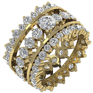Designer Eternity Bridal Ring Set 14k Yellow Gold-CR-194