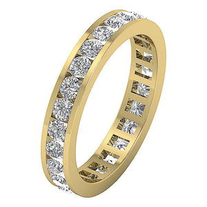 14k Solid Gold Eternity Wedding Ring-DETR172-3