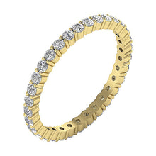 Load image into Gallery viewer, Side View Yellow Gold Prong Set Eternity Ring-ETR-132A-3