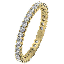 Load image into Gallery viewer, 14k White Gold Stackable Wedding Eternity Ring VS1 E 1.01 ct Natural Diamond Prong Set 2.50MM
