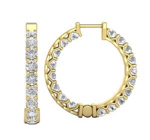 Lenght 0.72Inch Yellow Gold-DE146