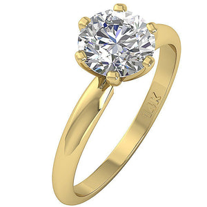 Prong Set Yellow Gold Solitaire Anniversary Ring-DSR-1.80-3