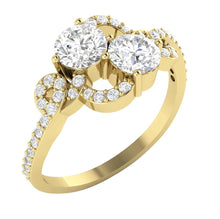 Load image into Gallery viewer, Designer Solitaire Ring Side View-DSR337