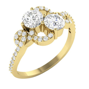 Designer Solitaire Ring Side View-DSR337