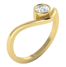 Load image into Gallery viewer, Yellow Gold Solitaire Anniversary Ring-DSR379