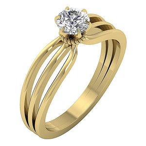 Solitaire Engagement Ring 14k Gold-SR-1058-3