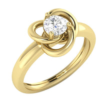 Load image into Gallery viewer, SI1 G 0.50 Ct Designer Wedding Ring 14K Rose Gold Solitaire Round Diamond