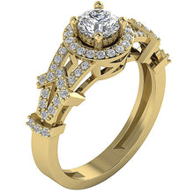 Load image into Gallery viewer, Vintage Solitaire Anniversary Ring 14k Solid Gold-SR-1187-2