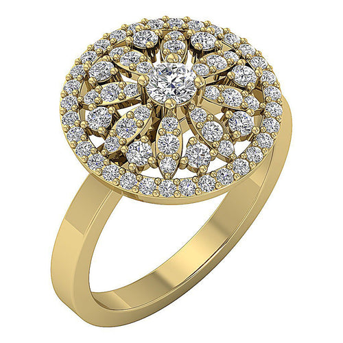 Yellow Gold Anniversary Wedding Ring-DRHR3