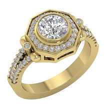 Load image into Gallery viewer, Vintage Solitaire Ring 14k Solid Gold For Ladis-DSR647-2