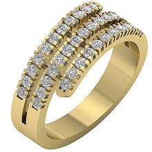 Load image into Gallery viewer, Side View Yellow Gold Anniversary Ring-RHR-45-3