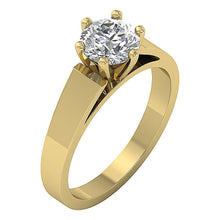 Load image into Gallery viewer, Solitaire Engagement Ring 14k Solid Gold-SR 766-1.80-3