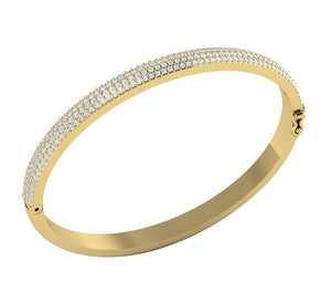 Prong Setting Natural Diamonds Bangles-DBR21