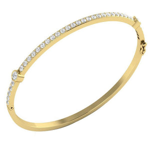 Prong Setting Bezel Setting Yellow Gold-DWR25