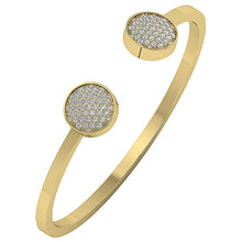Load image into Gallery viewer, Diamond Bangles Natural Diamonds SI1/I1 G 1.00 Ct 14k White Yellow Rose Gold