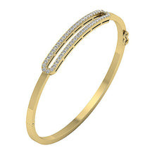 Load image into Gallery viewer, Diamond Bangles 14k White Yellow Rose Gold SI1/I1 G 1.00Ct Natural Diamonds