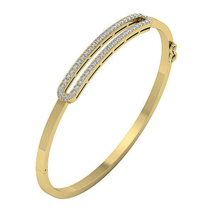 Cross View 14k Yellow Gold Prong Setting-DBR33