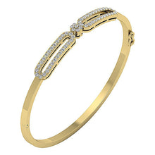 Load image into Gallery viewer, Diamond Bangles SI1/I1 G 1.00Ct Natural Diamonds 14k White Yellow Rose Gold