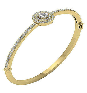 Diamond Bangles 14k White Yellow Rose Gold SI1/I1 G 2.25Ct Natural Diamonds