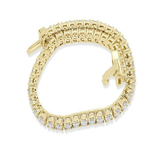 Genuine Diamond 14k Solid Gold Bracelet-B-28-1