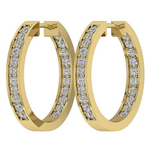 Load image into Gallery viewer, Hoops Natural Diamond Earring-E-254