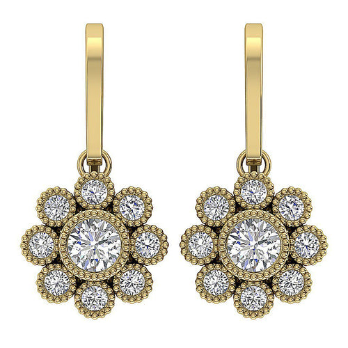 Natural Diamonds Earrings-DE108