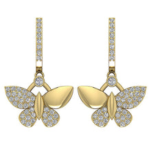 Load image into Gallery viewer, Front View Round Diamonds Chandelier Earrings-DE200
