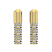 Load image into Gallery viewer, 14k Yellow Gold Natural Round Cut Diamond Earring-DE201