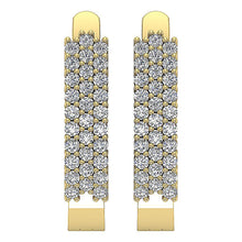Load image into Gallery viewer, 14k Yellow Gold Round Cut Diamond Earring-DE204