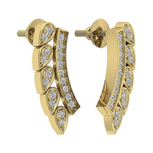 Load image into Gallery viewer, Natural Diamond 14k Yellow Gold Earring-DE207