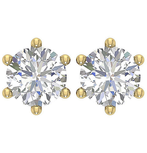 Genuine Diamond Earring 14k Solid Gold-DST21-2.00-1