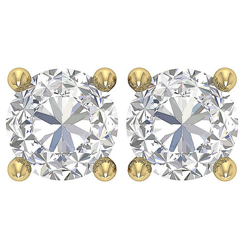 Genuine Diamond Earring Yellow Gold-DST41-2.10