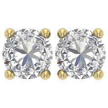 Load image into Gallery viewer, 14k Solid Gold Earthmined Diamond Earring-DST45-2.50-2