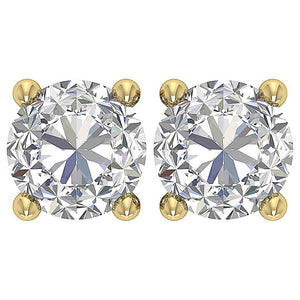 14k Solid Gold Earthmined Diamond Earring-DST45-2.50-2