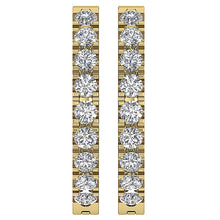 Load image into Gallery viewer, Round Cut Diamond Earring Yellow Gold-E-576-1
