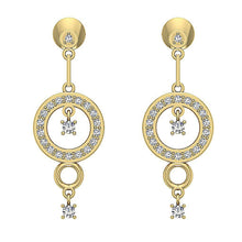 Load image into Gallery viewer, Prong Setting Round Shape Dangle Earring-E-734