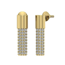 Load image into Gallery viewer, Natural Round Cut Diamond 14k Yellow Gold Fashion Earring-DE201