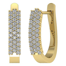 Load image into Gallery viewer, Round Cut Diamond Hoops Earring-DE204
