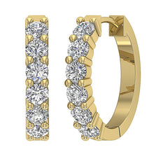 Load image into Gallery viewer, Round Diamond Hoops Earring-E-404A