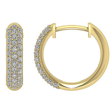 Load image into Gallery viewer, Yellow Gold Diamonds Earrings-DE227