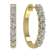 Load image into Gallery viewer, Large Hoops Natural Diamond Earring-DE102