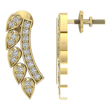 Load image into Gallery viewer, 14k Yellow Gold Natural Diamond Prong Set Earring-DE207