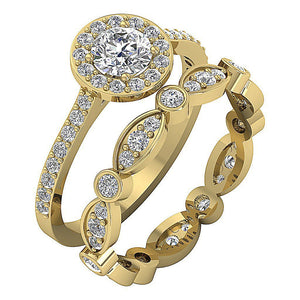 Natural Diamond 14k Yellow Gold Ring-CR-214